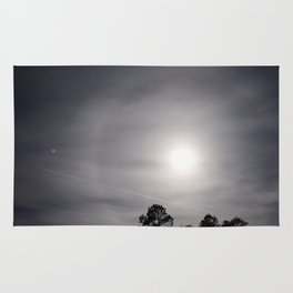 Contrail Through A Moon-Halo Rug