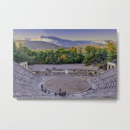 Epidaurus Theater, Peloponnesse, Greece Metal Print