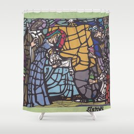 Stained Glass - Nativity Shower Curtain
