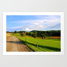 Farm Road Art Print