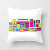 90s Throw Pillows featuring 90s by sknny