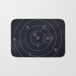 Planets symbols solar system Bath Mat