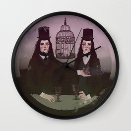 NO FRILL TWINS/MAGIC Wall Clock