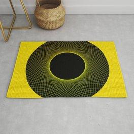 Vortex Yellow Modern Circular Pattern Design Rug