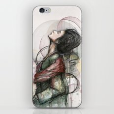 Beauty Illustration Beautiful Woman Feminine Portrait iPhone & iPod Skin