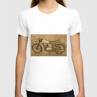 motorcycle T-shirts featuring Jawa motorcycle by AhaC