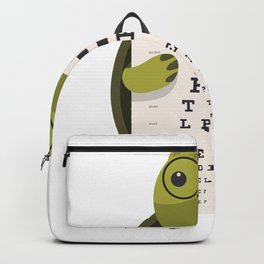 Turtle with glasses Backpack
