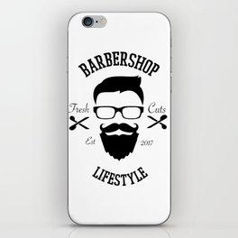 Barber Life | Barbershop Barber T-Shirt iPhone Skin