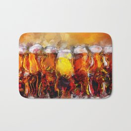 Beer Paintings & Gifts for the Beer Lover Bath Mat