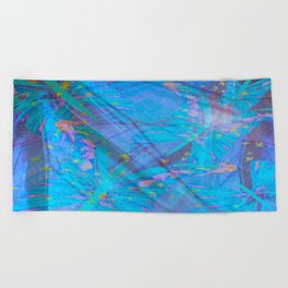 Butterflies On A Turquoise Background #decor #society6 Beach Towel