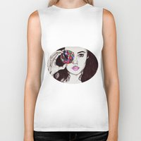 marina Biker Tanks featuring Marina  by annelise johnson