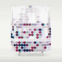 polkadot Shower Curtains featuring 3D Polkadot by James K