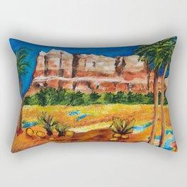 Courthouse Butte Rock, Sedona Arizona Rectangular Pillow