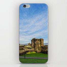 Caerphill Castle Panorama iPhone Skin