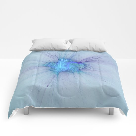 New Year Burst Fractal Comforters
