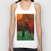 takmaj Tank Tops featuring Jump on the green city by Ganech joe
