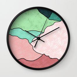 Golden Sun Wall Clock