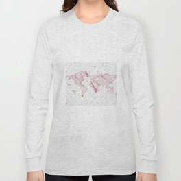 Wanderlust marble - pink stone Long Sleeve T-shirt