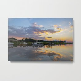 Sunset on Jones Creek Metal Print
