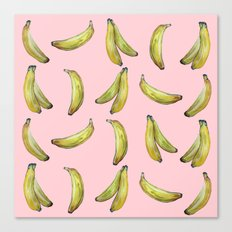 Banana!!pink Canvas Print
