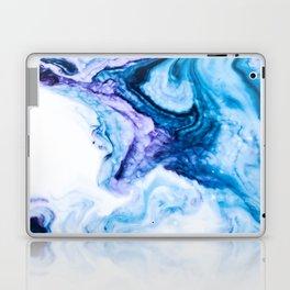 Blue marbled paper Laptop & iPad Skin