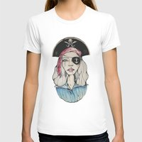 pirate T-shirts featuring Pirate by Bruno Gonçales