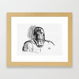 Warbot Sketch #067 Framed Art Print