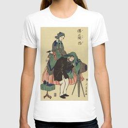 French Photographer in Old Yokohama by Utagawa Yoshikazu (1848-1863) a traditional Japanese  of a Fr T-shirt