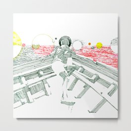 Space Ark Metal Print