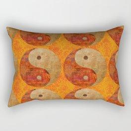 Yin and Yang original collage painting Rectangular Pillow