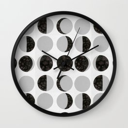 Moon Phases - White Wall Clock