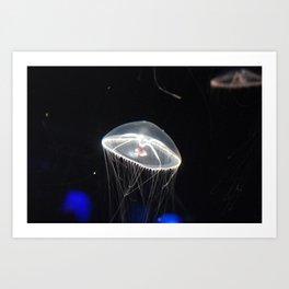 Underwater Flying Object Art Print