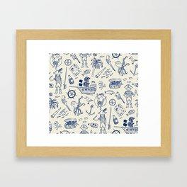 Pirate Play - Cream Framed Art Print