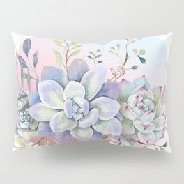 succulent full moon 2 Pillow Sham