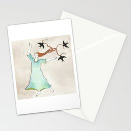 Three Blackbirds Stationery Cards