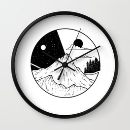 Paysage rond 2 Wall Clock