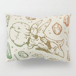 Triceratops Rocks! | Leaf Green & Pumpkin Spice Ombré Pillow Sham