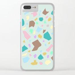 Terrazzo Print Clear iPhone Case