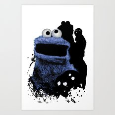 Monster Madness: Cookie Monster Art Print