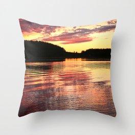 Summer Evening Lake Scenery #decor #society6 #buyart Throw Pillow