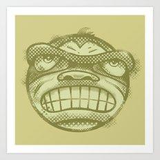 Monkey face Art Print