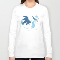 charizard Long Sleeve T-shirts featuring Mega Charizard X PKMN by Rebekhaart