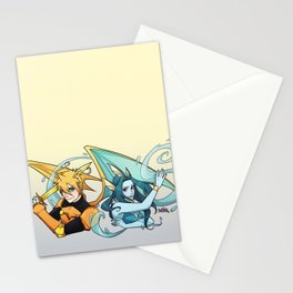 Dragonite and Vaporeon Stationery Cards