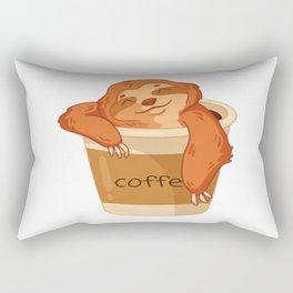 Sloth Needs Coffee T-Shirt Rectangular Pillow