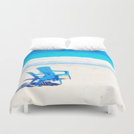 Chairs on the Beach Duvet Cover