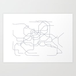 Seoul Subway Art Print