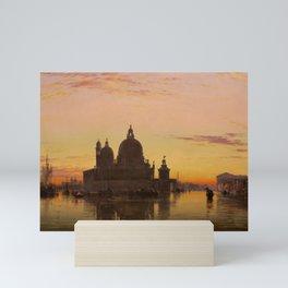 Venice Sunset at Santa Maria della Salute by Edwin William Cooke Mini Art Print