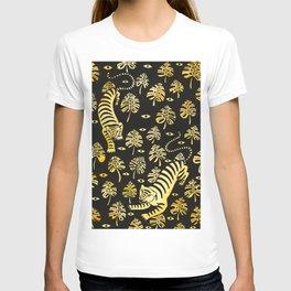 Tiger jungle animal pattern T-shirt