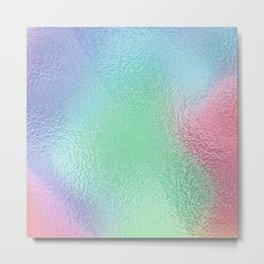 Simply Metallic in Holographic Rainbow Metal Print