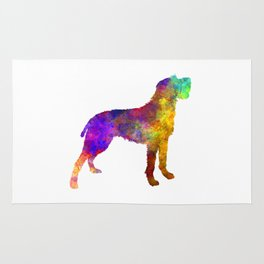 Bohemian Wirehaired Pointing Griffon in watercolor Rug